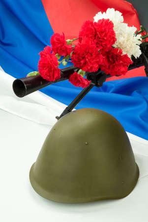 machine-gun: Machinegun and flowers