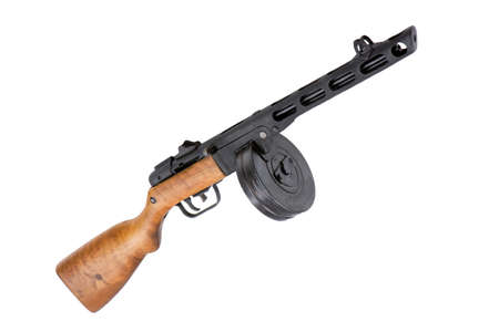 german handgun: Old Russian machine gun by Shpagin Stock Photo