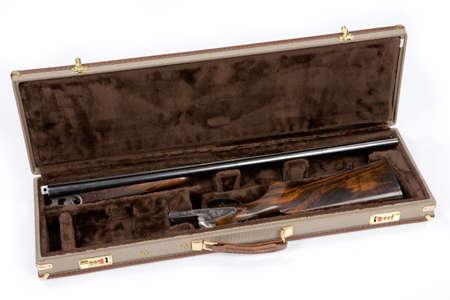 fusil de chasse: Isolated fusil de chasse Banque d'images