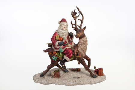 klaus: Statuette of Santa Klaus on isolated background