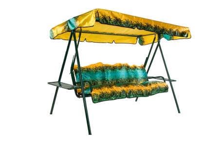 garden furniture: Camping and garden furniture on isolated studio background