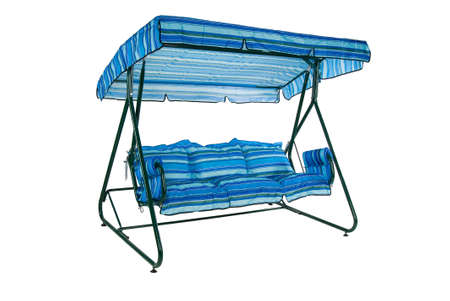 portative: Camping and garden furniture on isolated studio background