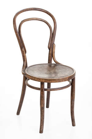 viennese: Old Viennese chair on an isolated studio background Stock Photo
