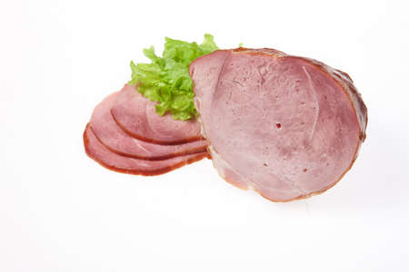 Pieces of meat on isolated studio background