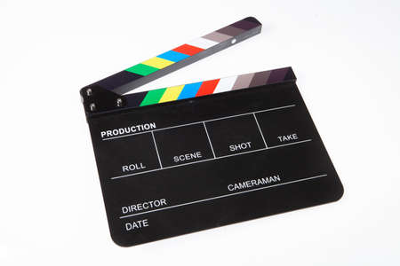 Clapperboard on isolated background
