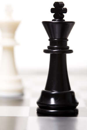 Chess on a white isolated studio background