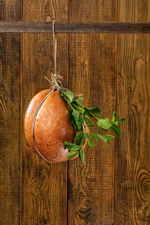 Different kinds of vegetables on a wooden studio background