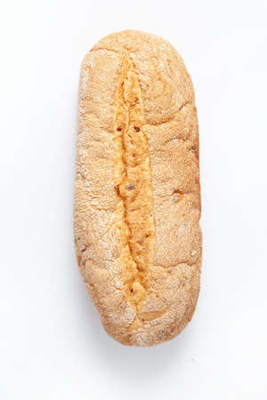 Bread on an isolated white studio background