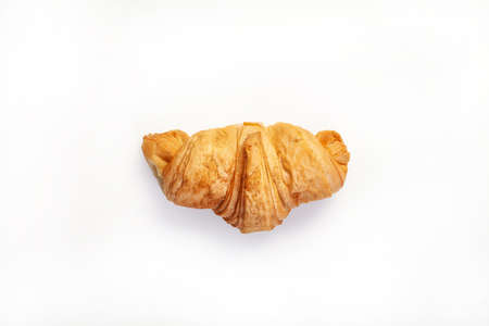 Traditional croissant on an isolated studio background