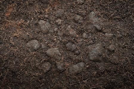 Loose organic soil suitable for plants