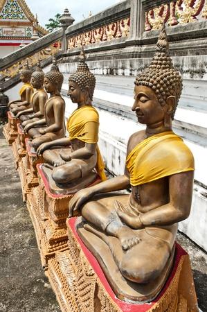 venerate: The Ancient Buddha Statue in Bangkok Thailand
