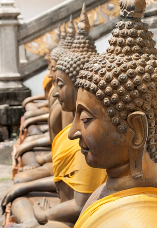 venerate: The Ancient Buddha Statue in Temple of Thailand