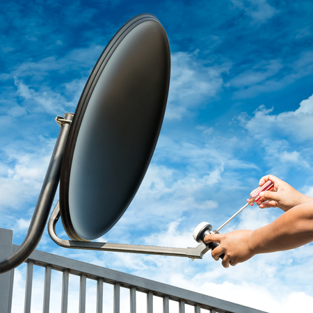 Craftsman is Repair The Black Satellite Dish