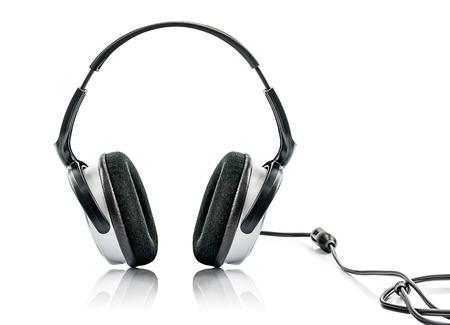 Headphone and Volume Isolated on White Background Stock Photo