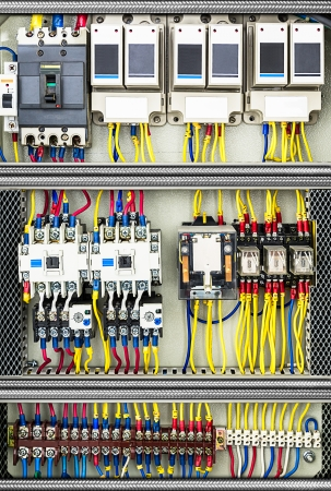 System of the electrical switchboard control box Imagens - 25242171