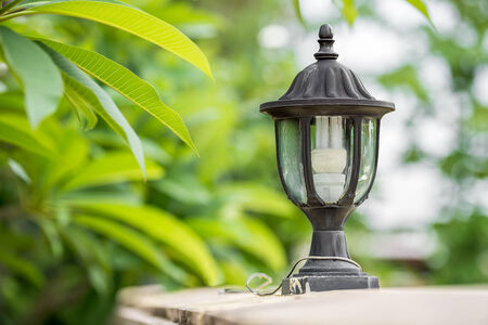 The electrical lamp for usable and outdoor decorate Stock Photo - 28223568