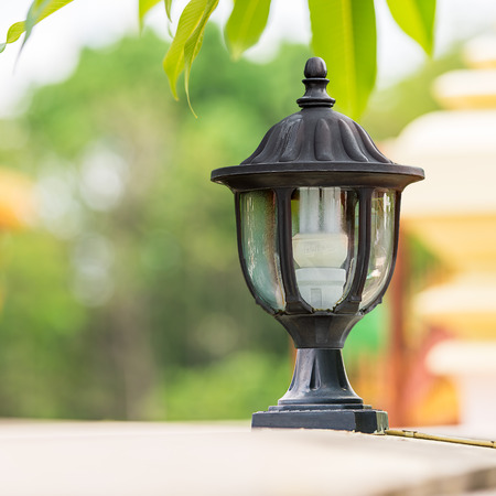 The electrical lamp for usable and outdoor decorate Stock Photo - 28223654
