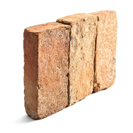earthen: Group of earthen brick for masonry material Stock Photo