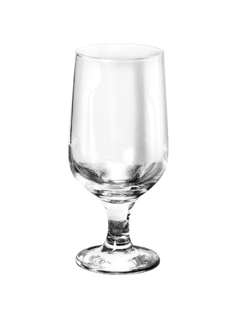 bar ware: Empty wine glass isolated on white background