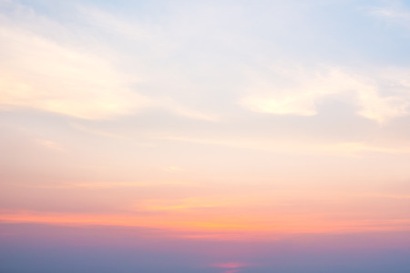 softness: The softness cloud on sky in sunset time
