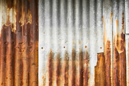 galvanised: Rusty galvanised iron plate for background and texture material