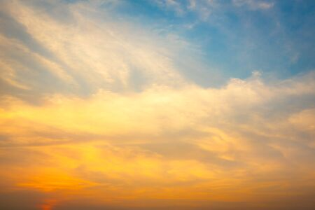 gloaming: Fantasy softness cloud on sky in sunset time