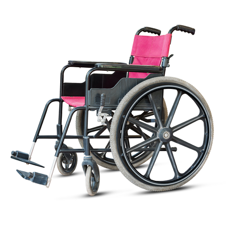 hospital patient: Wheelchair for patient in hospital or handicapped isolated on white background Stock Photo