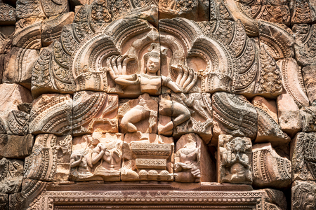 Ancient Shiva Nataraja castle lintel of Phanomrung historical park in Buriram, Thailand