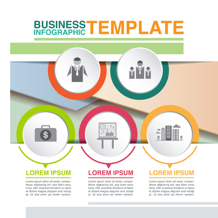 Business infographic template with icon and symbol, vector illustration graphic