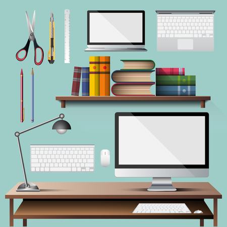 Office appliance for design material in illustration vector icon design  イラスト・ベクター素材