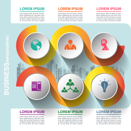 Business infographic template, vector illustration graphic