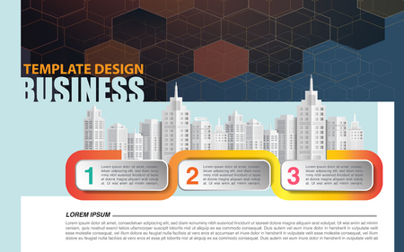 Business infographic template in paper art style, vector illustration graphic  イラスト・ベクター素材