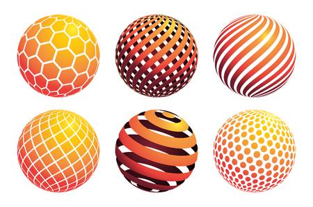 Circle ball pattern, vector illustration graphic
