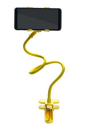 Smartphone clamp holder isolated on white background with clipping path 写真素材