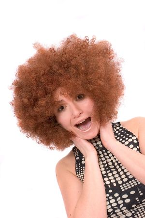 Redhead afro