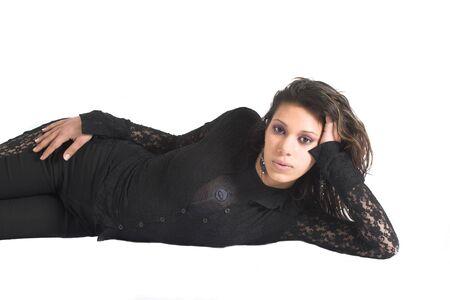 dutch girl: Beautiful teenager lying down
