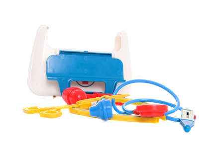 Small medical kit for children to play with photo