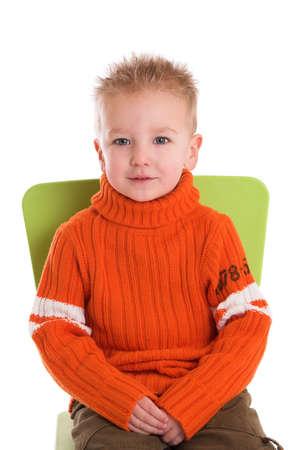 Cute little boy sitting