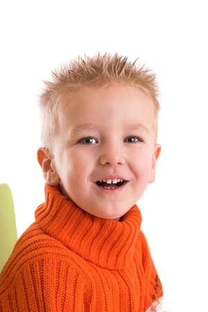 old year: Un ragazzo di due anni con una risata felice