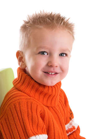 Cute young boy with a cheeky smile Stock Photo - 837450