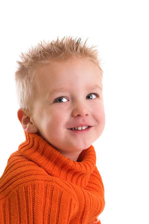 Cute two year old boy with a happy smile Stock Photo - 838477