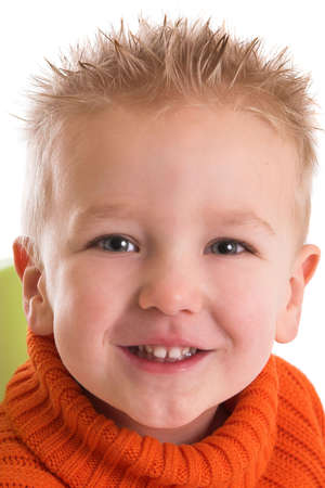 Two year old boy with a happy smile Stock Photo - 838474