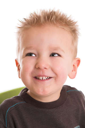 two year old: Two year old boy with a happy grin on his face