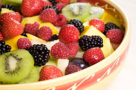 Delicious fruit salad in a bowl Stock Photo - 1312423