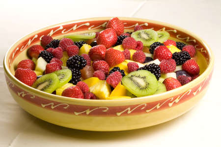 Delicious fruit salad served in a bowl Stock Photo - 1312427