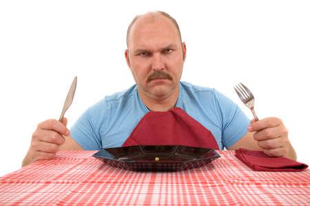 persona enojada: Pareja busca hombre muy enojado con el contenido de su plato