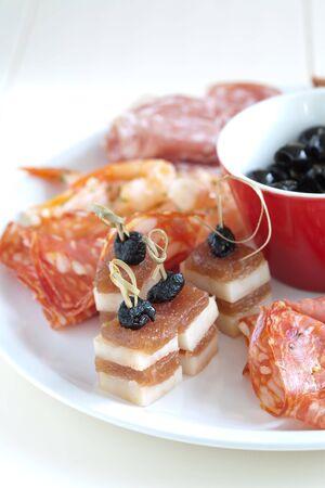 crudite: Delicious plate of italian antipasti snacks