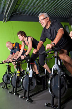 Group of senior people in a cycling class Stock Photo - 5087056