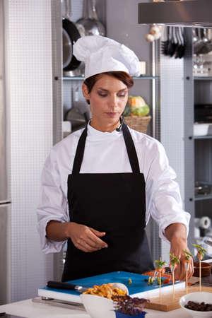 Female chef at work photo