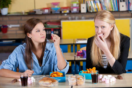 marshmallows: unhealthy school lunch